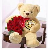 11朵红玫瑰熊之恋